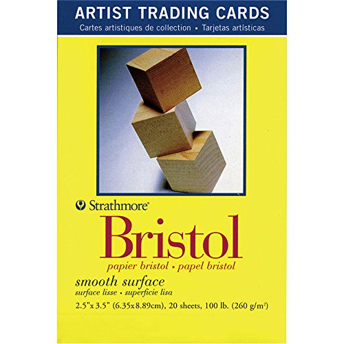 Artist Trading Card (Strathmore 105901Bristol Glatte Künstler, Karten, 2,5von 3,5, 20er Pack)