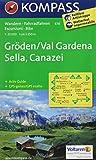 Gröden /Val Gardena /Sella /Canazei: Wanderkarte mit Aktiv Guide und Radrouten. GPS-genau. 1:25000. Dt. /Ital. (KOMPASS-Wanderkarten, Band 616)