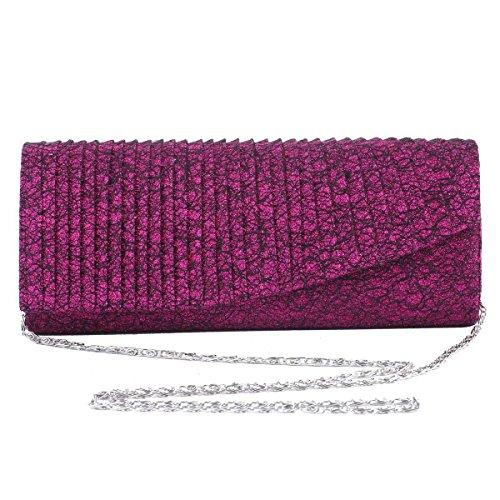 Damara® Fashion Damen Partys Blendende Handtasche Mit Pailletten Champagner