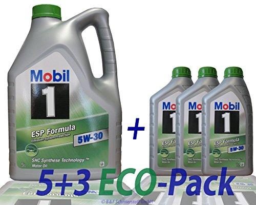 Preisvergleich Produktbild 3x 1 L + 5 L = 8 Liter Mobil 1™ ESP Formula 5W-30 Motor-Öl Motoren-Öl; Spezifikationen/Freigaben: ACEA C2, C3; API SM / SN; JASO DL-1; BMW Longlife 04; MB-Freigabe 229.31/229.51; VW 504 00/507 00; P