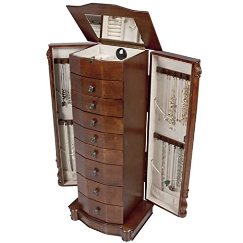 Best Choice Products Armoire Jewelry Cabinet Box Storage Chest Necklace