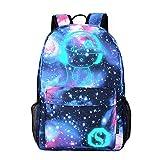 """Zaino di Tela di Unisex Galaxy School Bag Collection   ♣ Un buon partner:  • Dimensioni: 11,81 """"x 5,51"""" x 17,72 """"/ 30 x 14 x 45 cm (L * W * H).  • Anti-abrasione e appena deformato. Non sbiadente anche anti-corrosivo.  • I progetti di stampa sono ..."""