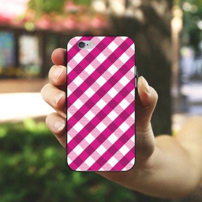 Apple iPhone 5s Housse Étui Protection Coque Carreau Motif Motif Housse en silicone noir / blanc