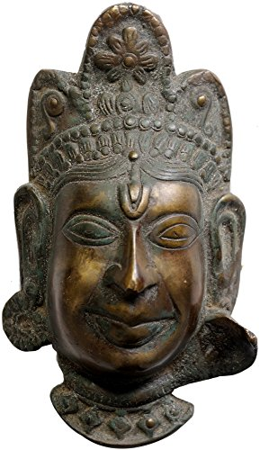 Exotic India Devi Maske von Himachal Pradesh-Messing Statue