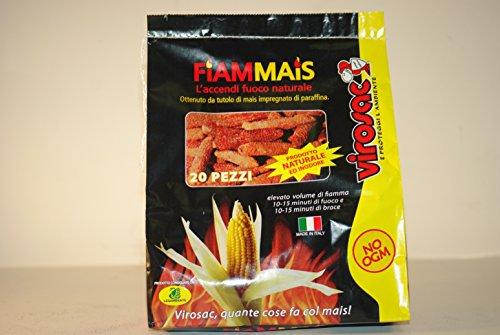 Allume-feu écologique 20 tutolo maïs imbibé paraffine Barbecue cheminée cheminée