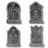 Rvest 4 Pz/Set Decorazioni di Halloween Lapidi Cimitero Lapide Tridimensionale Schiuma Lapide Bar Casa infestata Sala segreta Orrore Ornamenti Decorativi
