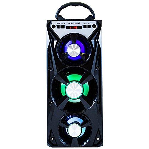 Xinbo Altavoz Portátil Gran Potencia Bluetooth USB TF FM Radio Luz Br