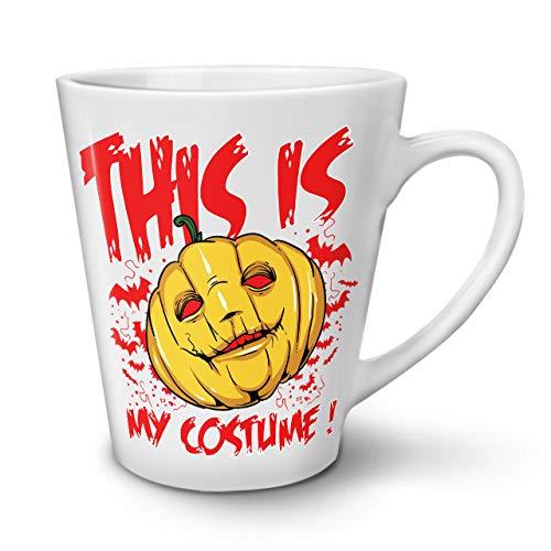 Wellcoda Halloween Kostüm Grusel Latte BecherKunst Kaffeetasse - Komfortabler Griff, Zweiseitiger Druck, robuste Keramik