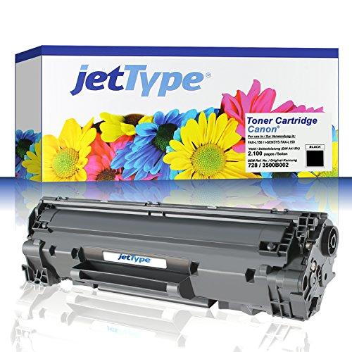 jetType Toner ersetzt Canon 728 / 3500B002 für FAX-L150 / i-SENSYS FAX-L150, schwarz, 2.100 Seiten