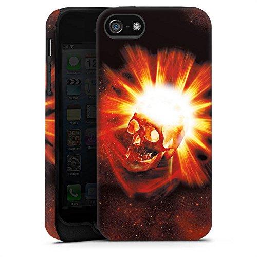 Apple iPhone 4 Housse Étui Silicone Coque Protection Tête de mort Crâne Crâne Cas Tough terne