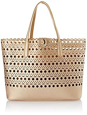 Covo Laser Cut Women's Tote Bag Handbag (Gold) (HTOGOL11)