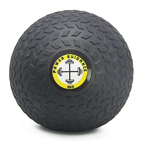 POWER GUIDANCE - Slam Ball Gummi Medizinball Fitnessball Trainingsball mit griffiger, Strukturierter Oberfläche und Ultra-Robuster Gummihülle - 10kg