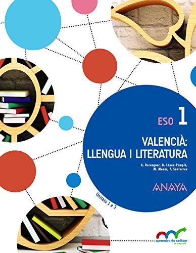 Valencià: llengua i Literatura 1 (Aprendre és créixer en connexió)