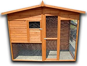 Pisces Seville Walk-in Chicken Coop with house and run from Pisces