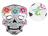 Alsino Halloween Maske Skelett Gruselmaske Totenkopfmaske Kunststoff-Maske Totenkopf Schädel Horrormaske, Variante wählen:P973037-3