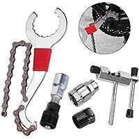 CGBOOM Kits de Herramientas de reparacion de Bicicleta Cortador de Cadena de Bicicleta+Remover de Cadena+Remover de Cordal+Remover de Rueda Libre+Remover de biela