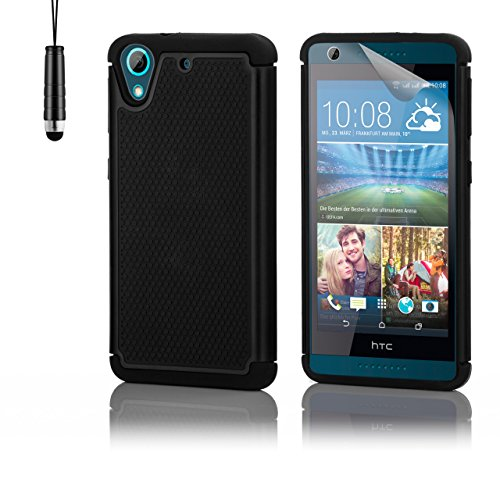 32nd Etui Coque Antichoc Double Couche pers HTC Desire 626 Coque de Protection Robuste - Noir