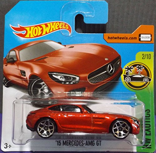 2017 Hot Wheels HW Exotics '15 Mercedes - AMG GT Red 338/365 (Short Card)