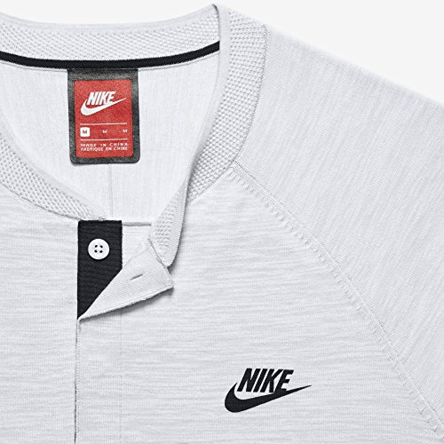 Nike M Nsw Tch Knt Ss T-shirt à manches courtes pour homme Blanc (blanc / pure platine / gris loup / noir)