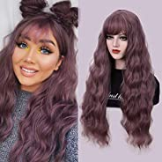Long Fluffy Curly Wavy Wigs Heat Friendly Synthetic Full Wig 28''