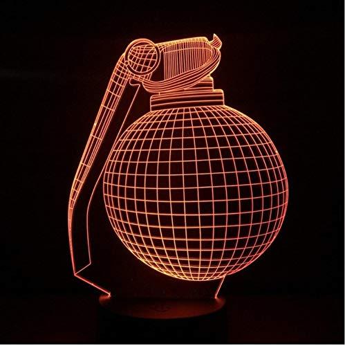 Nachtlicht Optische Täuschung Lampe Hand Led 3D Usb Touch Sensor Dekoration Kinder Geschenk Acryl Waffe Tischlampe Kinderzimmer Schlafzimmer