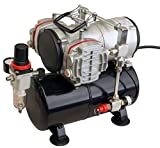 2 Zylinder, Airbrush Kompressor, 46 l/min, 6 bar, 3l Kessel, 230 V, AS-28A, 01763