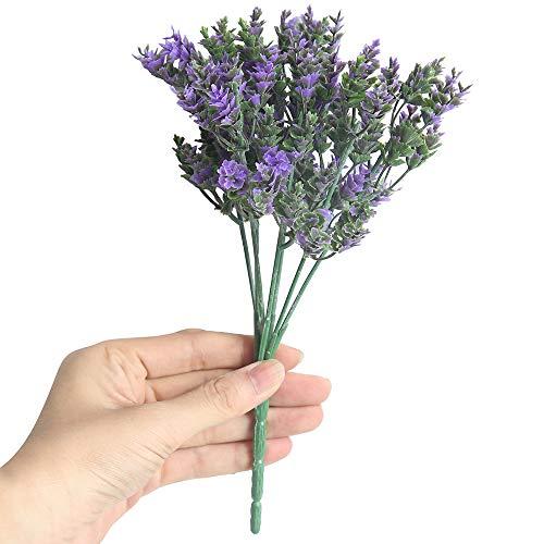 TIREOW Künstliche Gefälschte Blumen Kleine frische Blätter Gras Betriebsblumenstrauß Ausgangshochzeits Dekor (Lila)