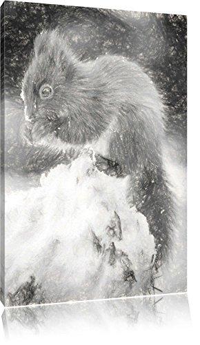 piccolo-scoiattolo-in-inverno-effetto-disegno-a-carboncino-formato-120x80-su-tela-xxl-enormi-immagin