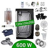 Growbox Komplettset 600 Watt HPS Cooltube Protube 120x120x200 - Vorschaltgerät Agrolite 2