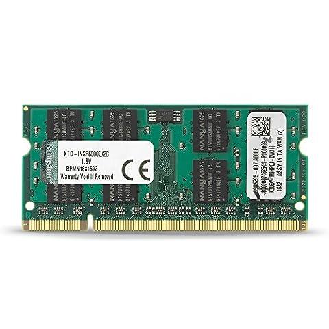 Kingston KTD-INSP6000C/2G Arbeitsspeicher 2GB Module 800MHz DDR2 (Ddr2 Sistema)