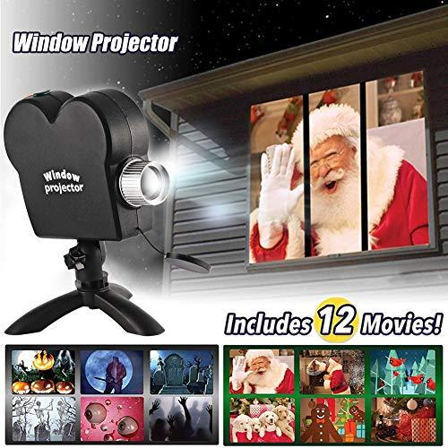 Projektionslampe,Window ProjektorLampe LED projektionslampe Sternenhimmel Projektor Schneefall ProjektorLichter,HalloweenProjektionslampe Wasserdicht-Innenund Außen Dekoration (Weihnachtsprojektion)