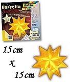 Folia Bringmann Bascetta Stern Set transparent 15 x 15 cm = 20 cm Ø , gelb
