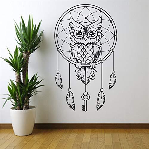 zqyjhkou Tiere Eule Wandkunst Aufkleber Aufkleber Wohnen Wohnkultur Schlafzimmer Personalisieren Wandaufkleber Decoative Vinyl Aufkleber D196 85 x 50 cm