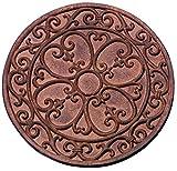 Esschert Design–Platten Garten, Motiv Klassik, rund, Durchmesser: ca. 30cm x 1,2cm hoch, 1–10Stück a Wahl 10 pezzi