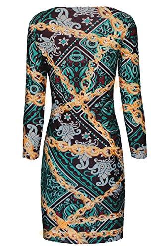 Valin D22199 Deman Mode Figurbetontes Kleid Mehrfarbig