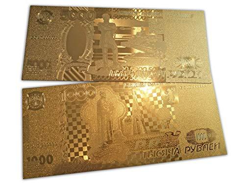 Eillwin Sammlerstücke Russische Reproduktion 2X Banknote Set 5000 + 1000 Rubel schönes Sammelobjekt & Gedenkgeschenk