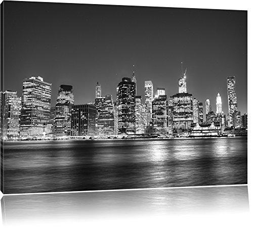 New York, su tela, Immagini XXL completamente incorniciata con grandi cornici di cuneo, dell'immagine della parete Stampa artistica con cornice, più economico di pittura o di un dipinto a olio, non un manifesto o un cartello, Leinwand Format:120x80 cm