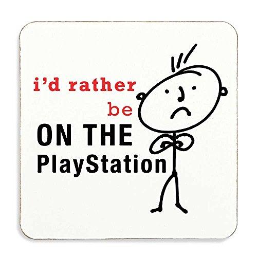 Da uomo I' d Rather Be On The Playstation Sottobicchiere in sughero di alta qualità giorno di padri papà marito Uncle Nonno Regalo