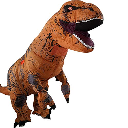 T-Rex Inflatable Dinosaur Mascot Party Costume Fancy Dress Cosplay Outfit Adult … 3