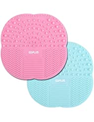 Silicone Brush Cleaner 2 PCS Make Up Brushes Cleaning Pad Little Rubber Mat 10 cm * 10 cm