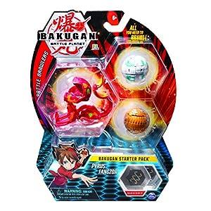 Spin Master Bakugan Starter 3 Pack - Mix 10 - Peonzas (Batalla de trompos, Multicolor, De plástico, 6 año(s), Niño/niña, China)