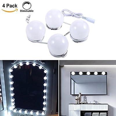 LED Spiegelleuchte | B-right® Spiegellampe, Spiegel Lichter Set für Kosmetikspiegel, 6000K, Kaltweiß