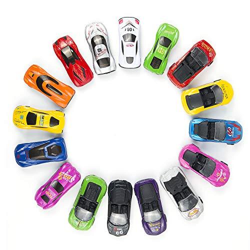 Comius Coches Metalicos Juguete, 16 Pcs Coches Niños Juguetes Vehiculos Metálico Mini Coche para Niños 3 Años+