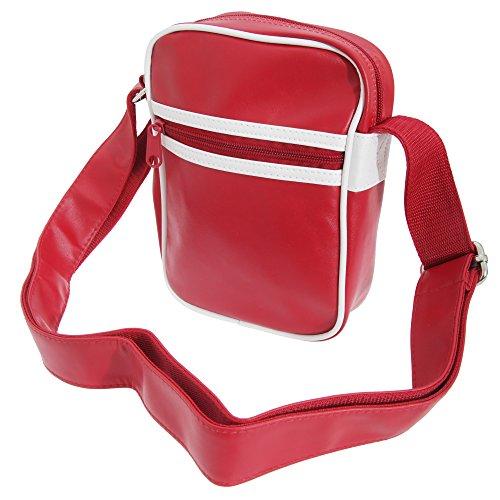 Bagbase Original Retro Schultertasche Rot/Weiß