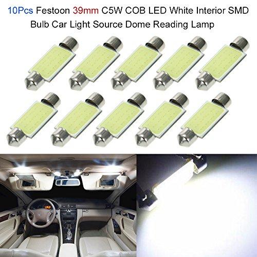 Led Blanc Int/érieur Panneau d/ôme carte lampe de lecture 269 C5 W 31 mm Ampoule Navette pour 500 type 312