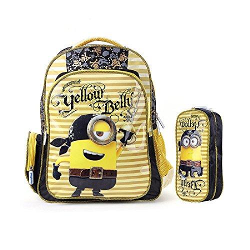 2015 escuela de amarillo niños Minion Nuevo diseño bolsas pirata 3d rUUgW71vwq