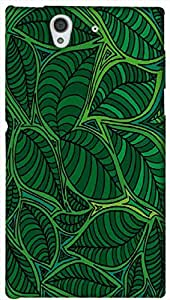 Timpax Light Weight One-piece construction Hard Back Case Cover Printed Design : Beautiful green design.Exclusively Design For : Sony L36-H ( Sony 36 )