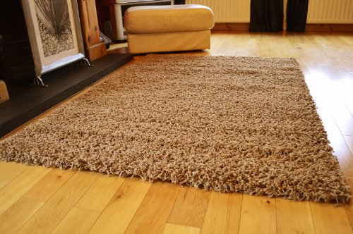**4 SIZES AVAILABLE**EXTRA LARGE SMALL MEDIUM PLAIN BEIGE NEW MODERN SOFT  THICK SHAGGY NON SHED PILE BEDROOM RUG HALL CARPET LIVING ROOM MAT CHEAP  (160 X ... Part 62