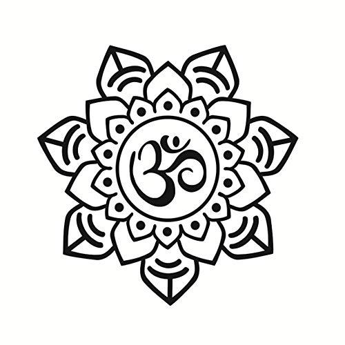 Mandala Wall Sticker Art Pvc Scava Fuori Decalcomanie Indiano Modello Di Fiore Carta Da Parati Soggiorno Murales Home Decor 44Cmx44Cm -