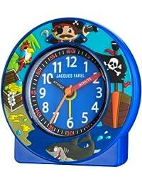 Jacques Farel Kinderwecker Jungen Pirat blau ohne Ticken ACN 6666